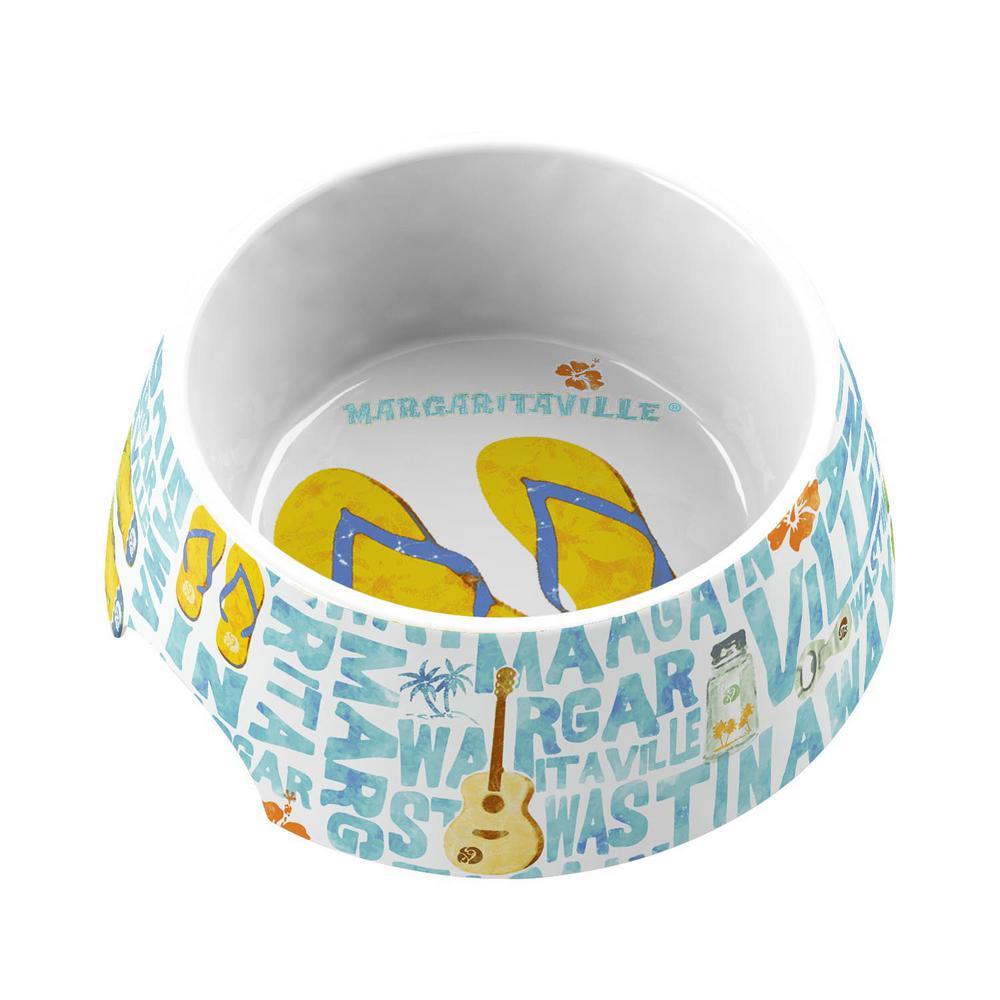 Margaritaville Words and Icons Medium Pet Bowl