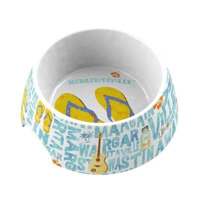 Margaritaville Words and Icons Medium Pet Bowl