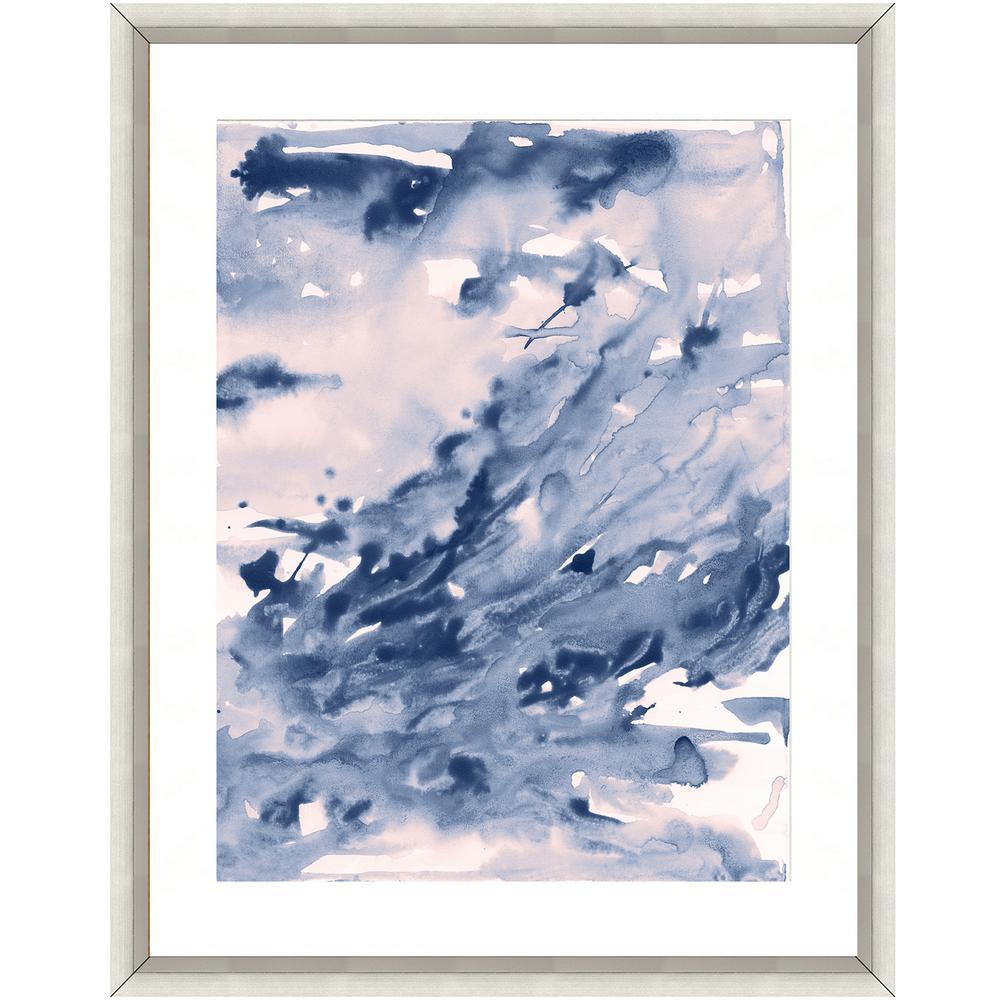 """""""Seafoam watercolor I"""" Framed Archival Paper Wall Art (24 in. x 28 in. in Full Size)"""
