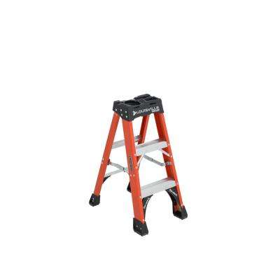 3 ft. Fiberglass Step Ladder with 375 lbs. Load Capacity Type IAA Duty Rating