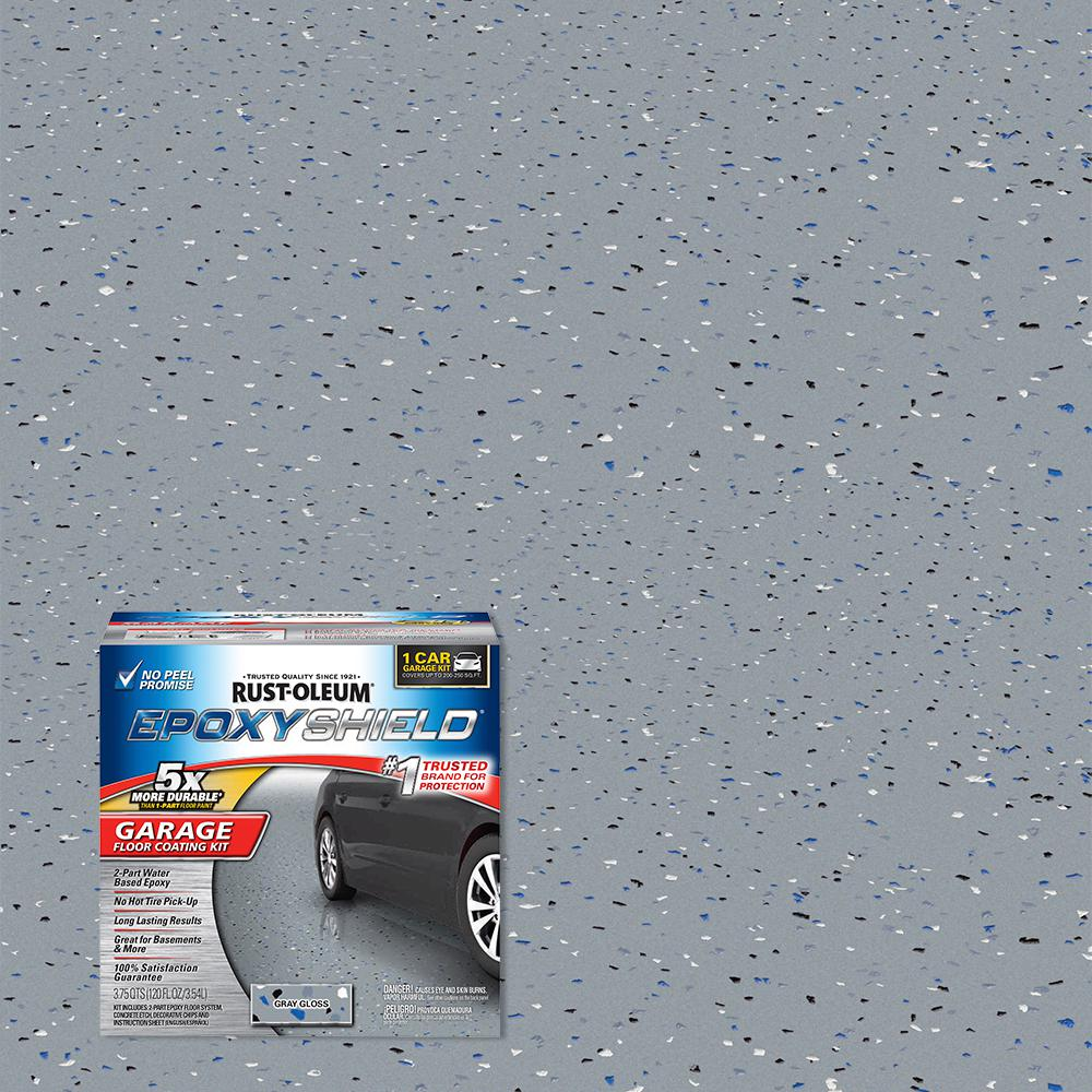 Rust-Oleum EpoxyShield 1 Gal. Gray High-Gloss 1-Car Garage Floor Kit (2-Pack)