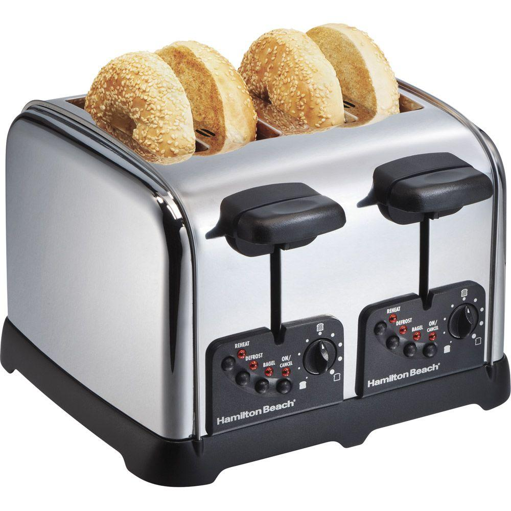 Hamilton Beach Classic Chrome 4-Slice Extra-Wide Slot Toaster-DISCONTINUED