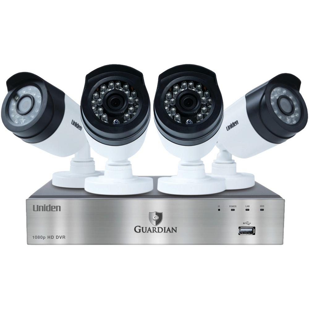 Uniden 8-Channel 1080p 1TB DVR with 4 Outdoor Bullet Cameras