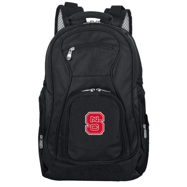 Denco NCAA North Carolina State 19 in. Black Laptop Backpack CLNSL704