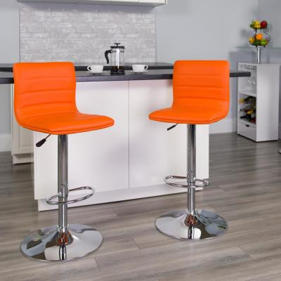 Cool Orange Bar Stools Kitchen Dining Room Furniture The Pabps2019 Chair Design Images Pabps2019Com