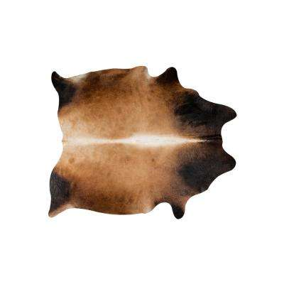 KOBE EXOTIC COWHIDE NORMAN TAN 5 ft. x 7 ft. AREA RUG