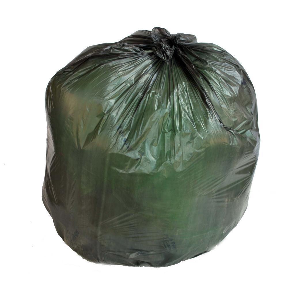 38 in. W x 60 in. H 50-60 Gal. 22 Micron Black High-Density Bags (150-Case)