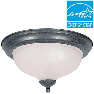 Dandridge 2-Light Satin Nickel Flush Mount