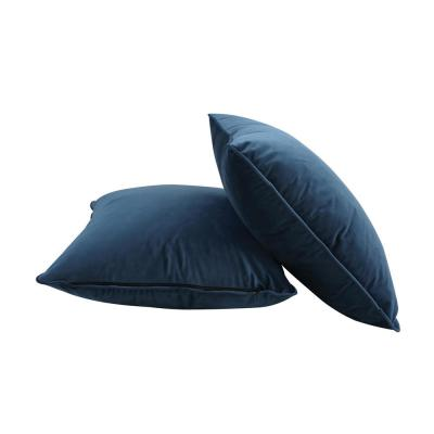 Nia Aegean Blue Solid Down 6 in. x 18 in. Throw Pillow (Set of 2)