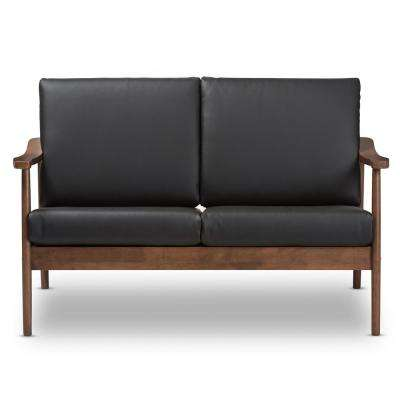 Faux Leather Faux Leather Mid Century Modern Sofas Loveseats