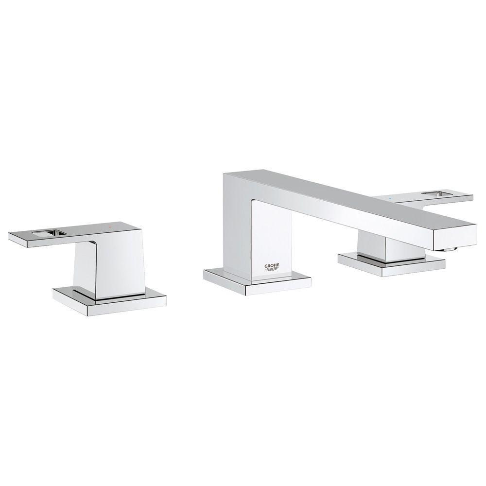 Eurocube 2-Handle Deck-Mount Roman Bathtub Faucet in StarLight Chrome