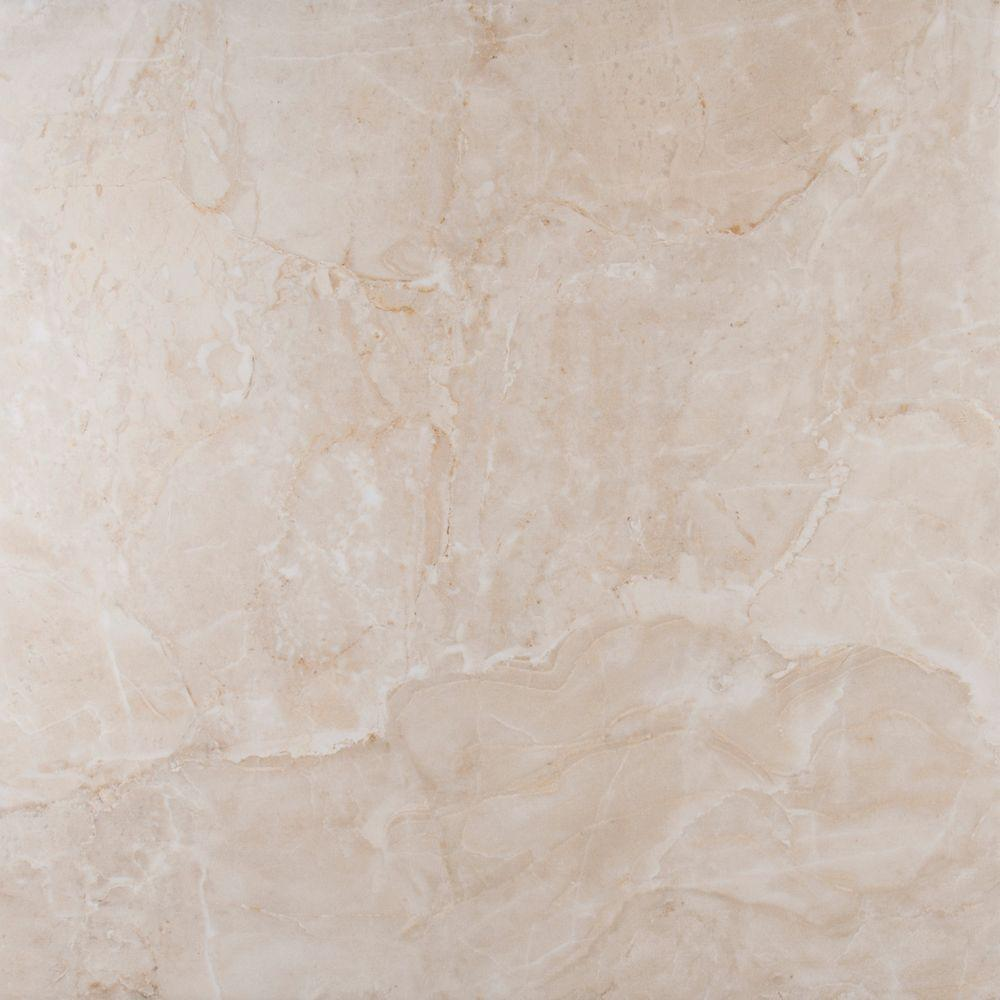 Ms international onyx ivory 18 in x 18 in glazed for Porcelain tile