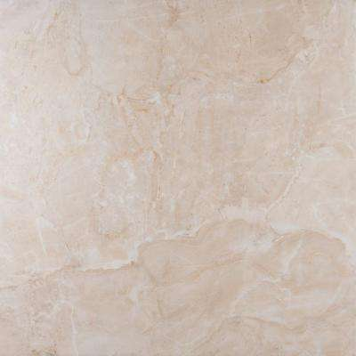 Onyx Ivory 18 in. x 18 in. Glazed Porcelain Floor and Wall Tile (15.75 sq. ft. / case)