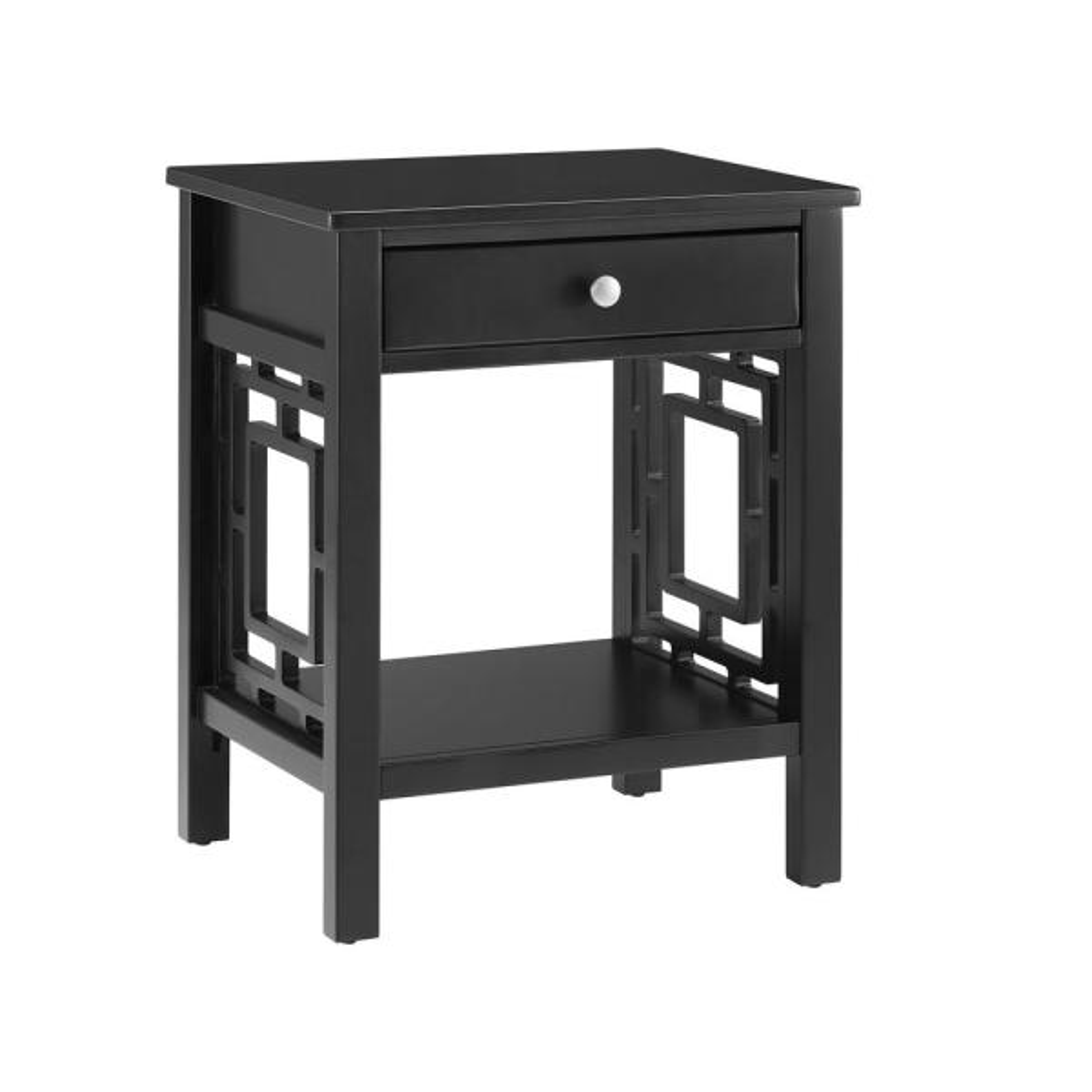 Sloane Black 1-Drawer End Table