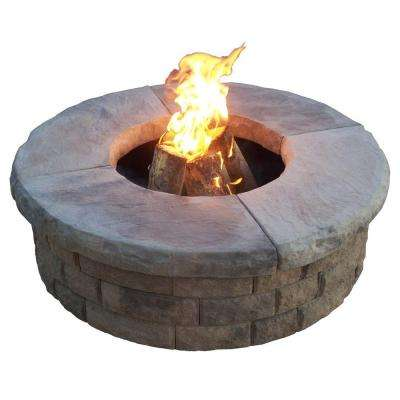 22 in. Wood Burning Dark Buff Fire Pit Kit