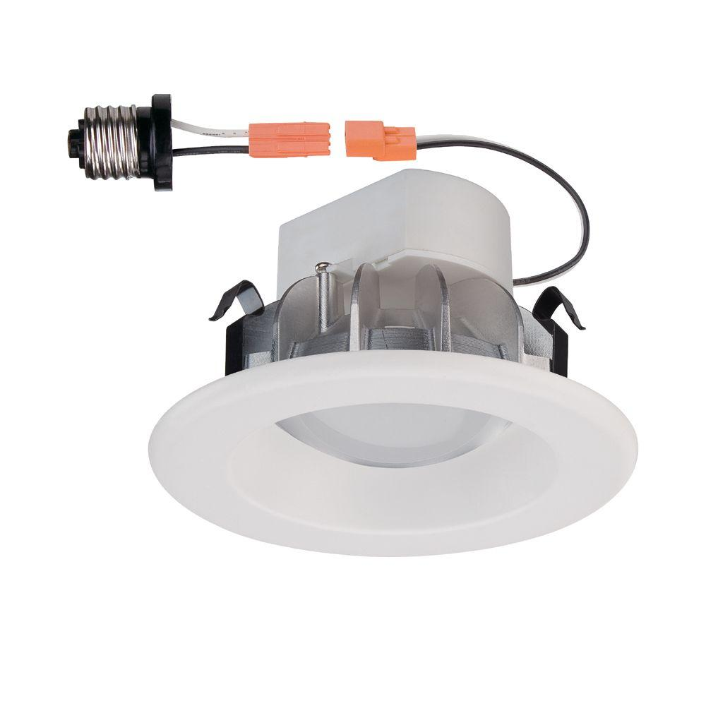 White Integrated LED Recessed Trim  sc 1 st  The Home Depot : home depot recessed lighting - azcodes.com