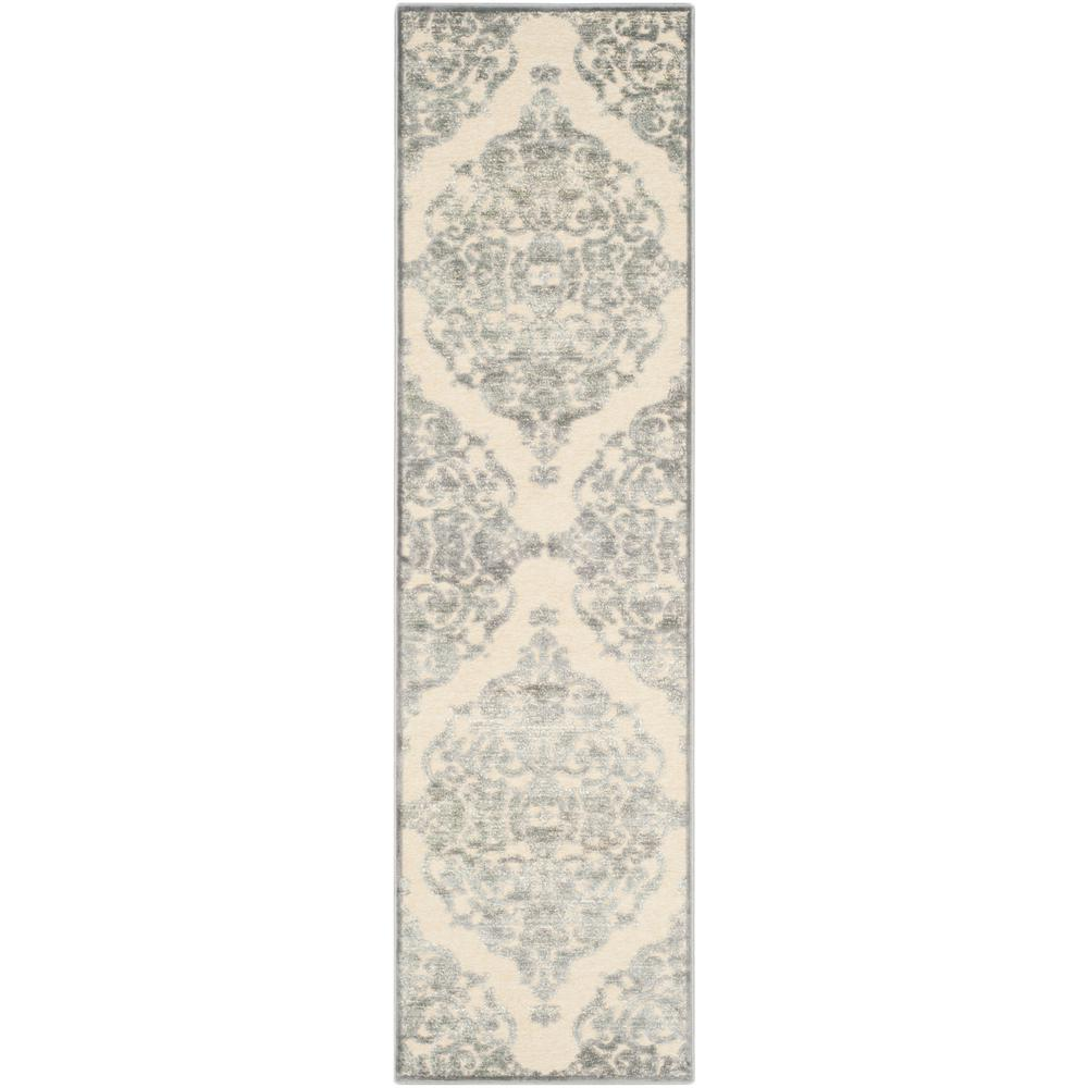 Paradise Gray/Multi 2 ft. 2 in. x 8 ft. Runner