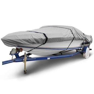Ripstop 16 ft. to 19 ft. (Beam Width to 102 in.) Gray V-Hull Fishing Boat Cover Size BT-5