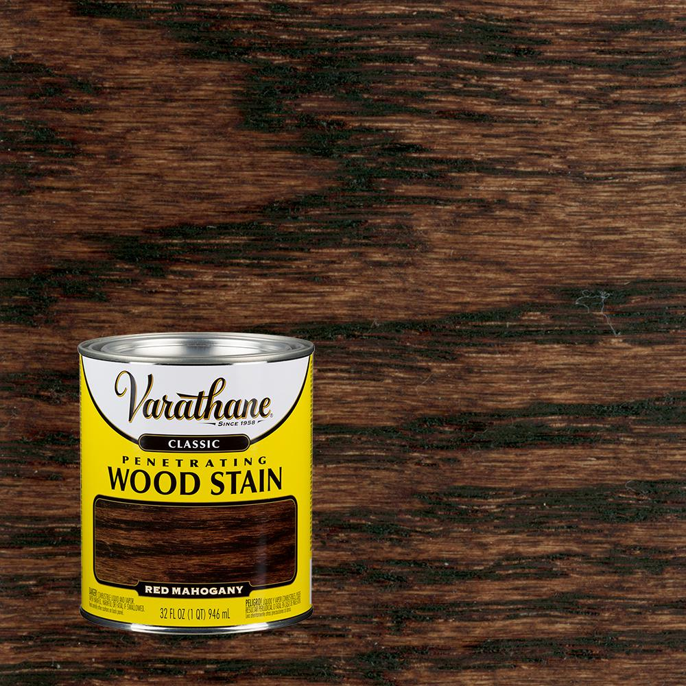 Varathane 1 qt. Red Mahogany Classic Wood Interior Stain