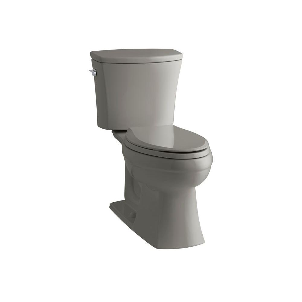 KOHLER Kelston Comfort Height 2-piece 1.6 GPF Elongated Toilet with AquaPiston Flushing Technology in Cashmere-DISCONTINUED