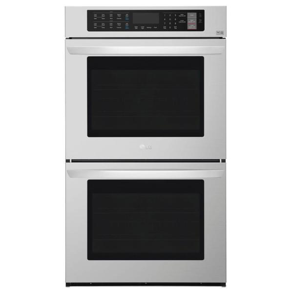 30 in. Double Electric Wall Oven Self-Cleaning with Convection and EasyClean in Stainless Steel
