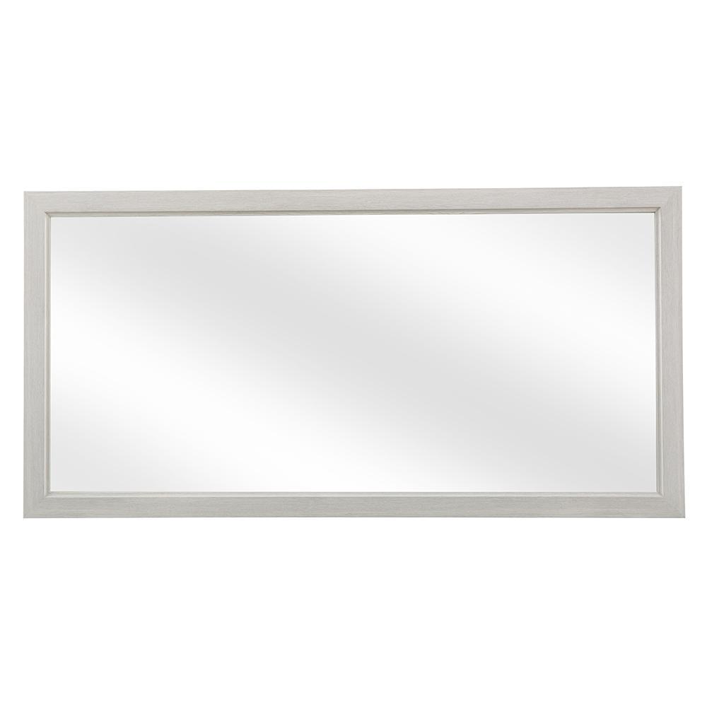 Brunfield 60 in. W x 30 in. H Single Framed Wall Mirror in Light Grey