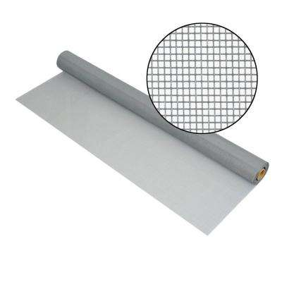 96 in. x 100 ft. Silvergray Fiberglass Screen 18 x 14 Mesh
