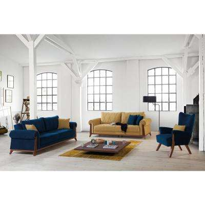 Blue - Fabric - Living Room Furniture - Furniture - The Home Depot