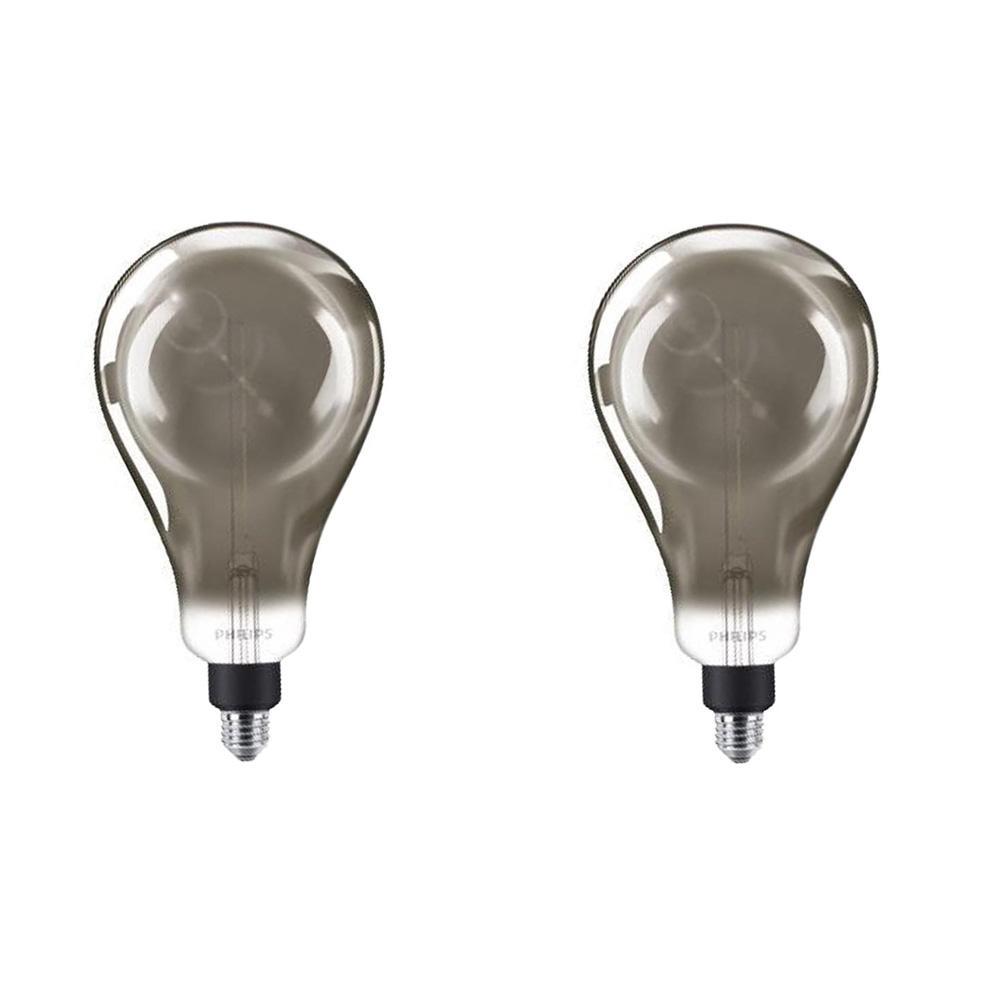 25-Watt Equivalent A50 Dimmable Modern Glass Edison LED Large Light Bulb Cool White (4000K) (2-Pack)