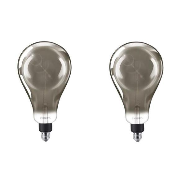 25-Watt Equivalent A50 Dimmable Modern Glass Edison LED Large Light Bulb Cool White (4000K) (2-Pack)