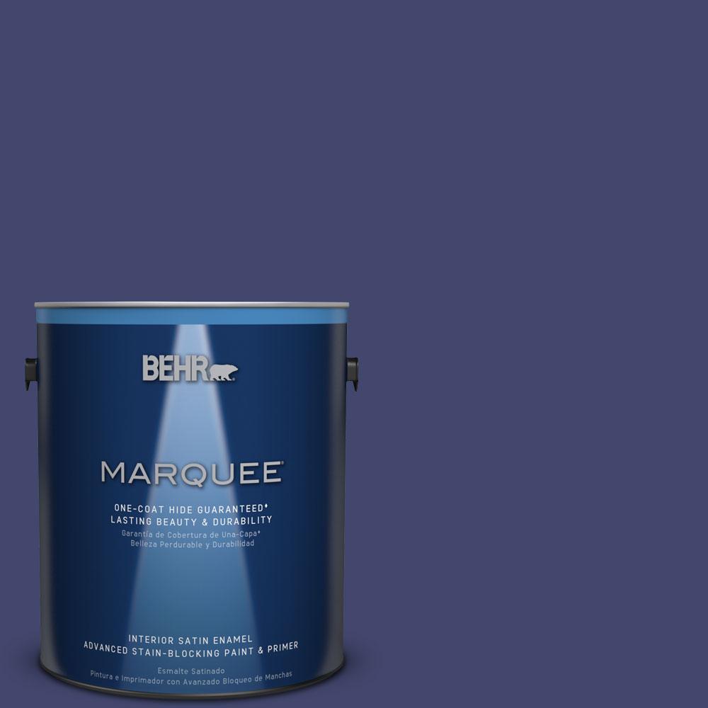 1 gal. #T11-19 Starlit Night Satin Enamel Interior Paint