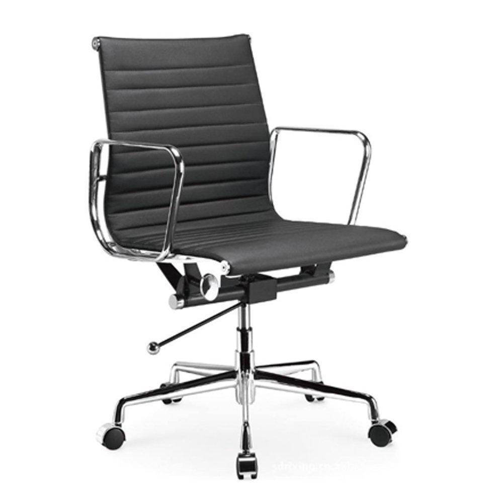 Ellwood Mid-Back Adjustable Black Office Chair