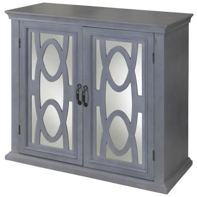 Sea Grit 2-Door Gray, Mirror Cabinet