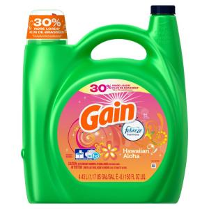 Gain 150 oz spring lavender he liquid laundry detergent 96 loads hawaiian aloha high efficiency liquid laundry detergent with febreze freshness 72 solutioingenieria Image collections