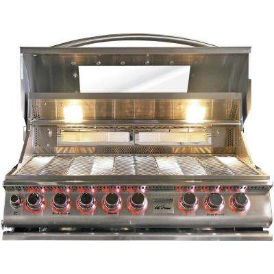 5-Burner Built-In Propane Gas Grill in Stainless Steel Top Gun Convection with Rotisserie