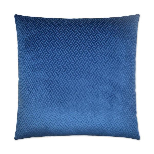 Flex Blue Solid Down 24 in. x 24 in. Throw Pillow