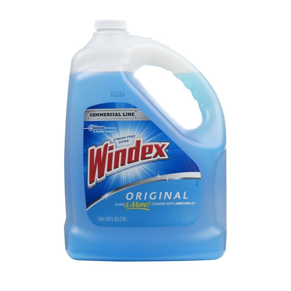 Windex Commercial 128 Oz Original Glass Cleaner Refill 012207 The Home Depot