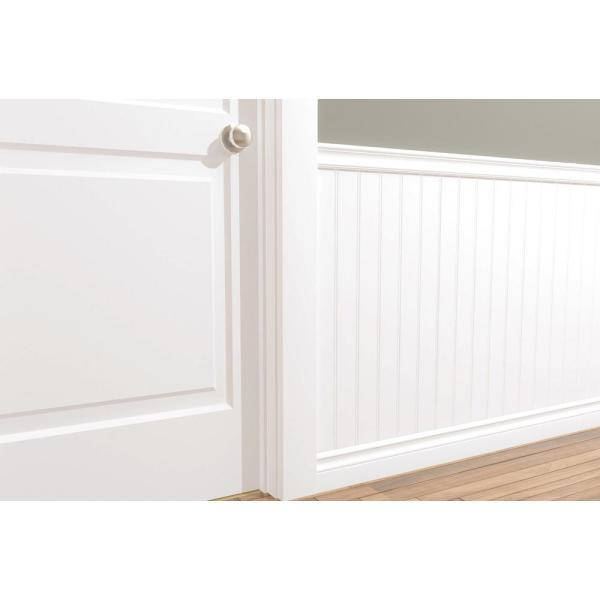 Alexandria Moulding 15 16 In X 2 3 8 In X 96 In Primed Mdf Chair Rail Moulding 00698 96192c The Home Depot