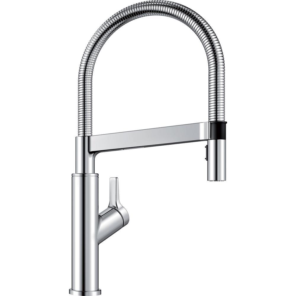 Blanco SOLENTA Semi-Pro Single-Handle Pull-Down Sprayer Kitchen Faucet in  Polished Chrome
