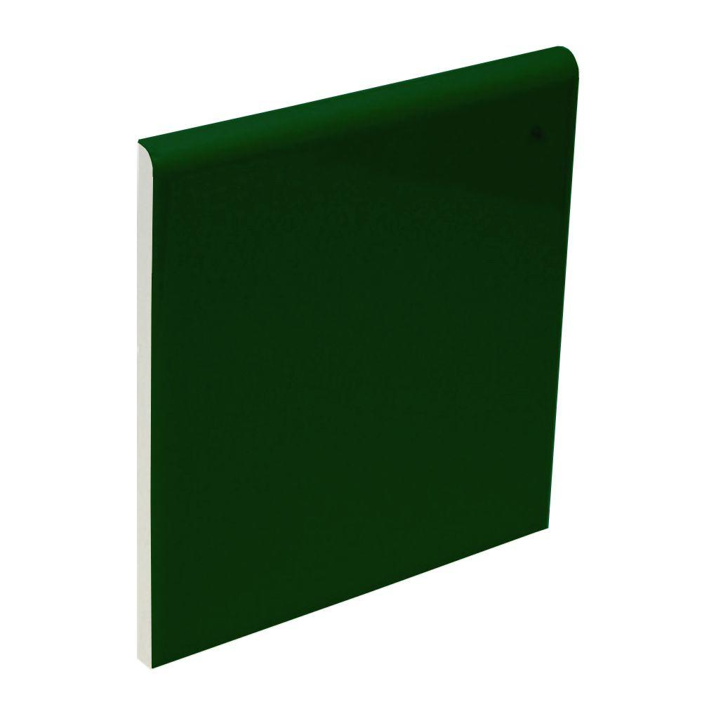 U.S. Ceramic Tile Bright Kelly 4-1/4 in. x 4-1/4 in. Ceramic Surface Bullnose Wall Tile-DISCONTINUED