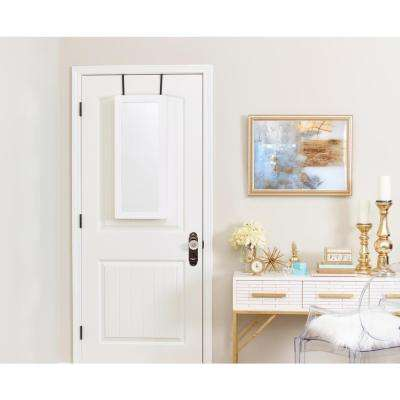 Space Saver Mirrored Jewelry Armoire - White