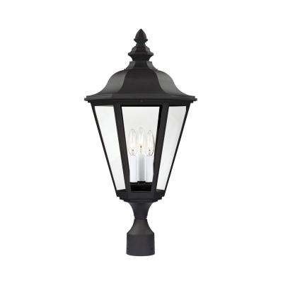 Brentwood 3-Light Outdoor Black Post Light