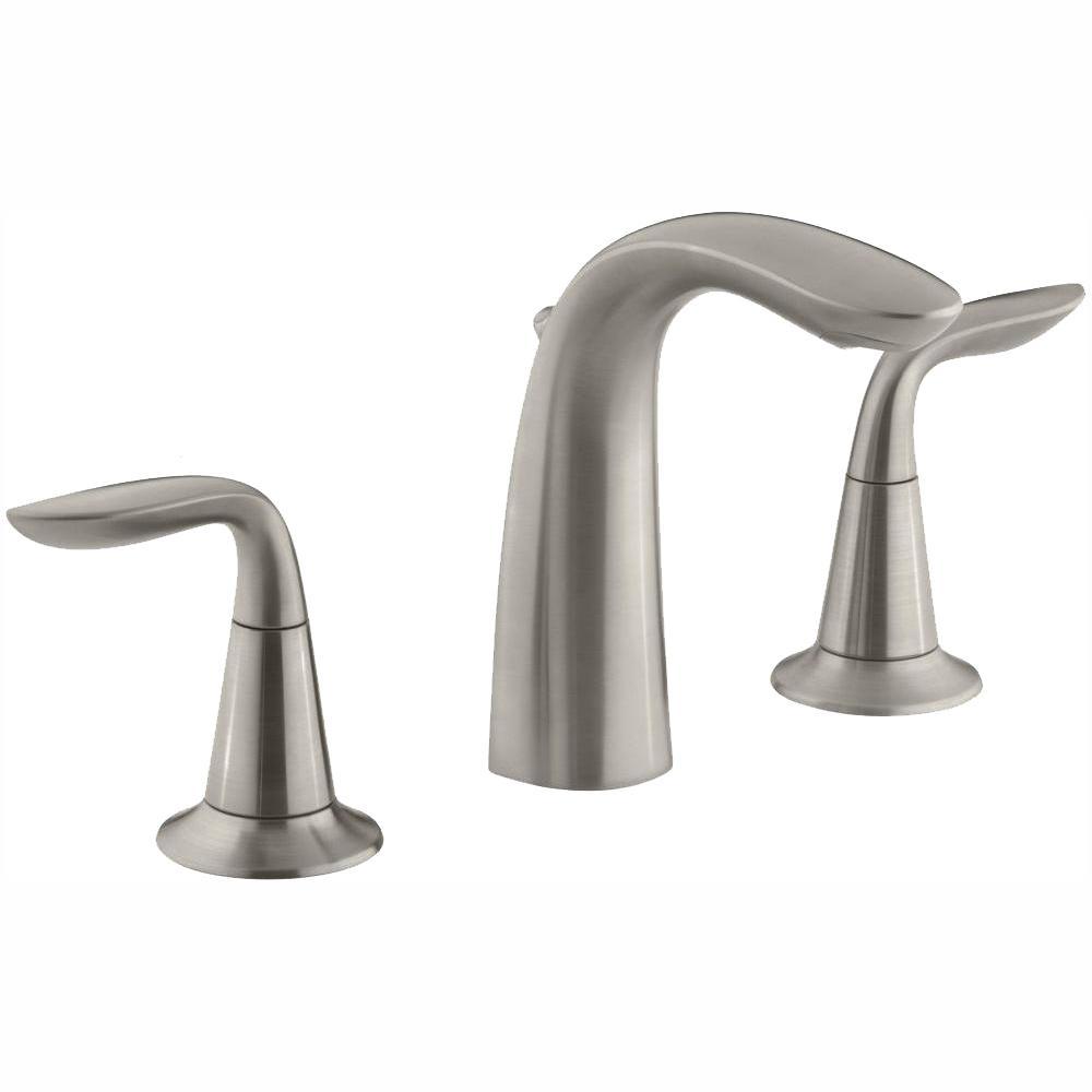 KOHLER Refinia 8 in. Widespread 2-Handle Bathroom Sink Faucet in Brushed Nickel