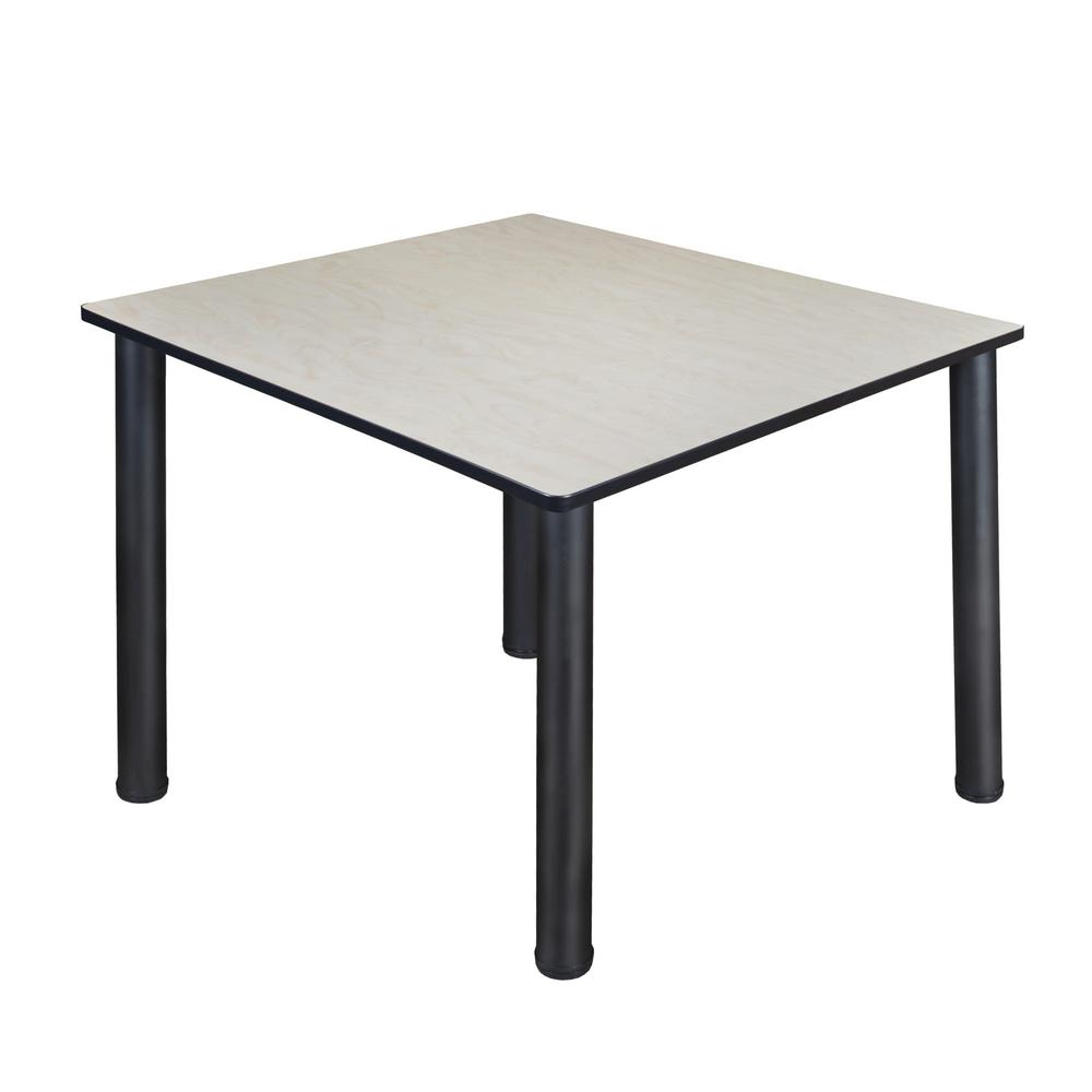 48 Square Dining Room Table: Regency Kee 48 In. Maple And Black Square Breakroom Table-TB4848PLBPBK