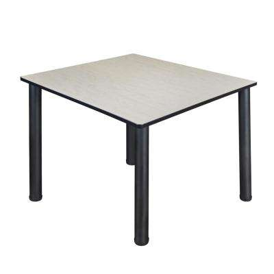 Kee 48 in. Maple and Black Square Breakroom Table