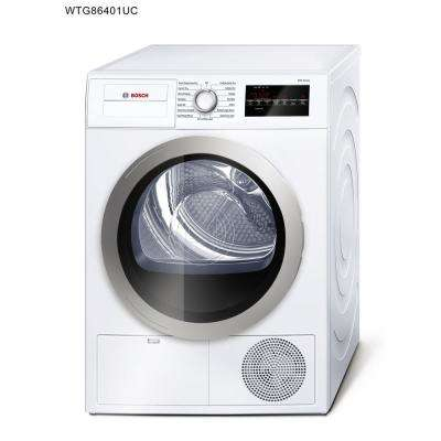 500 Series 24 in. 4 cu. ft. White with Silver Accents Electric Condensation Compact Dryer, ENERGY STAR