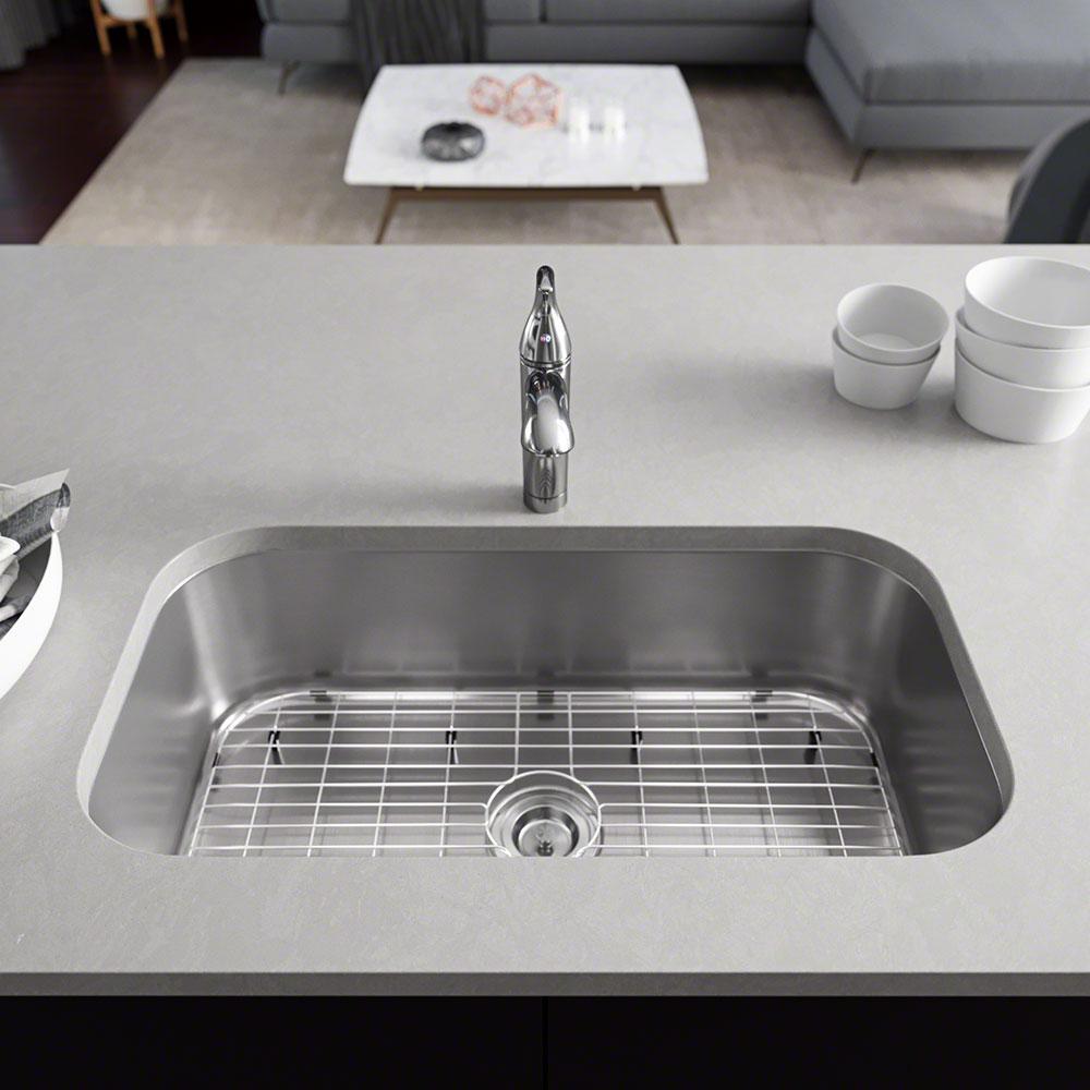 Rene Undermount Stainless Steel 32 1/4 in. Single Bowl Kitchen