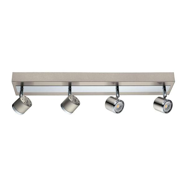 Pierino 2 ft. Satin Nickel and Chrome Integrated LED Track Lighting Kit with Adjustable Heads
