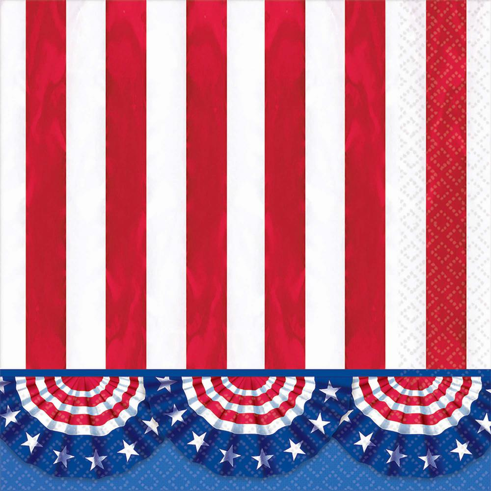 6.5 in. x 6.5 in. American Pride Lunch Napkins (125-Count)