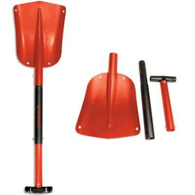 25 in. to 32 in. Adjustable Red Aluminum Emergency Sport Utility Shovel (2-Pack)